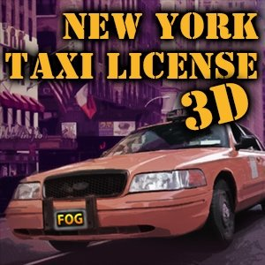 Image New York Taxi License 3D