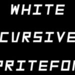 White Cursive Spritefont